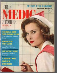 True Medic Stories  9/1959-pin-up girl photo cover-exploitation-scandal-VF-
