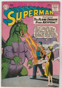 Superman #142 (Jan-61) VG+ Affordable-Grade Superman, Jimmy Olsen,Lois Lane, ...