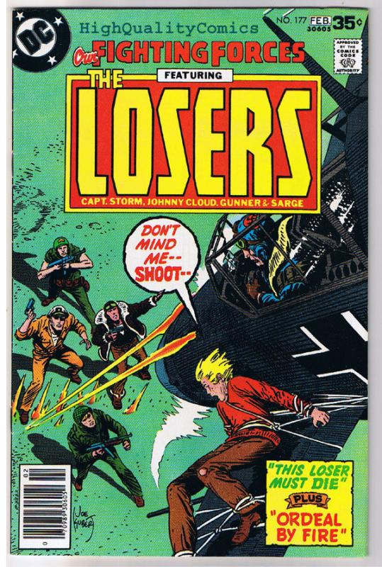 OUR FIGHTING FORCES #177, FN+, The Losers, Joe Kubert, 1954, more in store