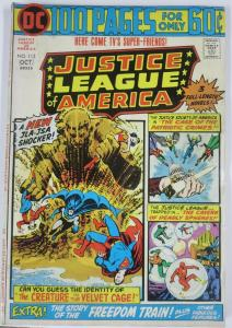 JUSTICE LEAGUE OF AMERICA #113 (DC) October, 1974 VERY GOOD  100 page giant