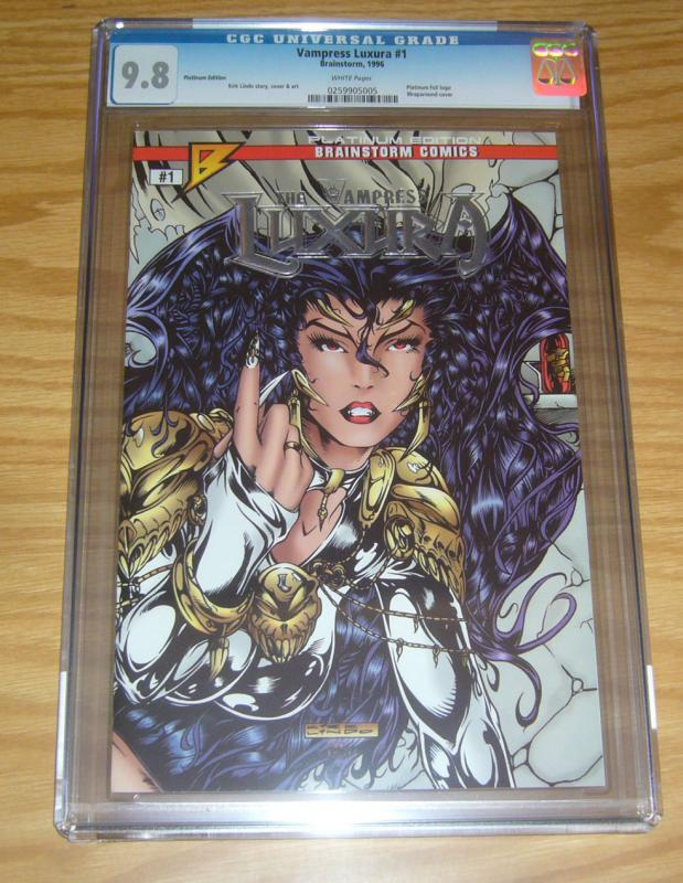Vampress Luxura #1 CGC 9.8 platinum variant - kirk lindo bad girl brainstorm