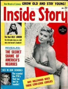 Inside Story 1/1960-Julie London-Robert Mitchum-Anita Ekberg-cheesecake-VG