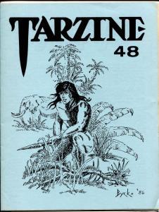 Tarzine #48 7/1986-Bill Ross-Edgar Rice Burroughs-Tarzan-collector info-VF