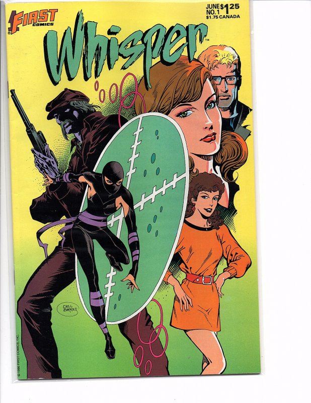 First Comics Whisper #1 NM 1st App. in First Comics