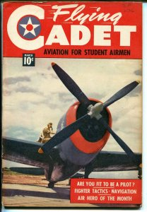 Flying Cadet #2 1943-P-47 Thunderbolt-WWII--comics-text-photos-FN