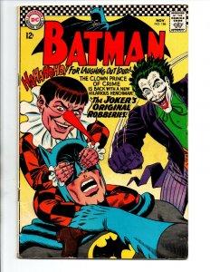 Batman #186 - Joker - 1st appearance Gaggy the Clown - KEY - 1966 - FN/VF
