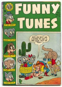 Funny Tunes #3 1954- Space Mouse- Peter Rabbit VG-