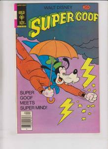 Walt Disney's Super Goof #46 VF/NM april 1978 - super mind - gold key comics