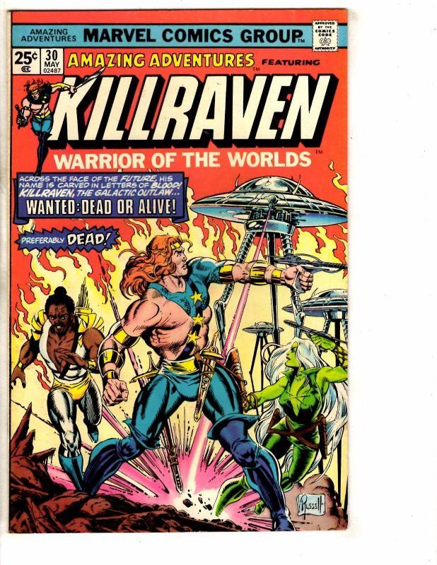 Amazing Adventures # 30 VG/FN Marvel Comic Book Feat. Killraven War Worlds PP1