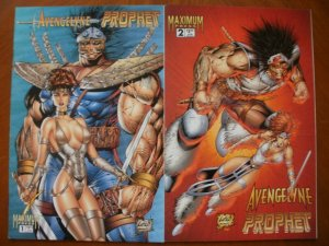 2 Maximum Press AVENGELYNE / PROPHET Comic #1 #2 (1996) Liefeld (Angel Soldier)