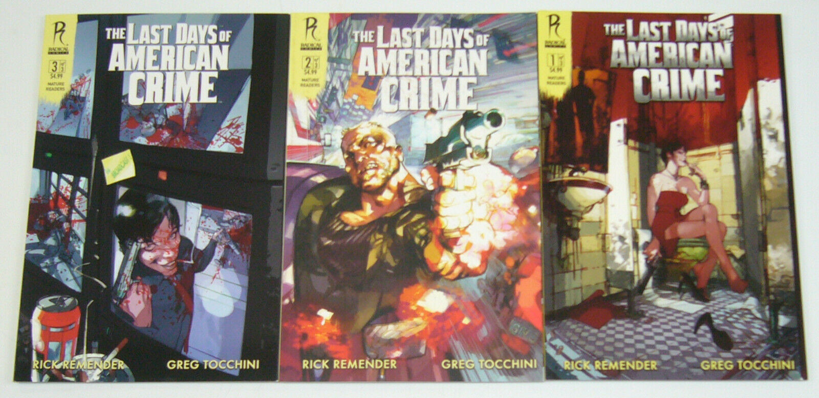Last Days Of American Crime 1 3 Vf Nm Complete Series Rick Remender B Set Hipcomic