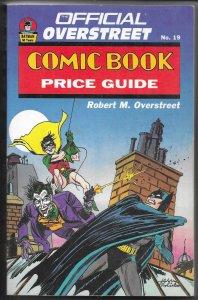 Official Overstreet Comic Book Price Guide 19 (1989) softcover Batman Joker SC