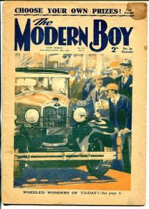 Modern Boy 10/16/1930-U.K. published-dime novel-Automobile wonders-G