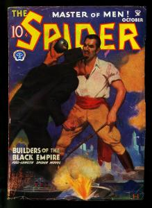 The Spider Pulp October 1934- Builders of Black Empire- John Howitt- VG+