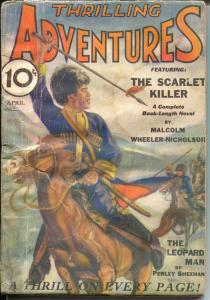 Thrilling Adventures #4 4/1932-DC Comics founder-western pulp thrills-FR/G