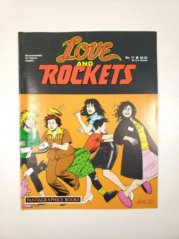 LOVE and ROCKETS No. 17 Fantagraphics 1st Printing 1986 Adult Comic Magazine