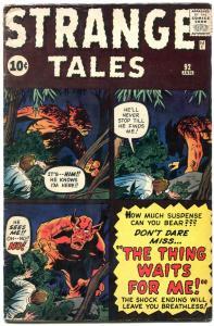 Strange Tales #92 1962- Kirby- Ditko- Flying Saucer story VG