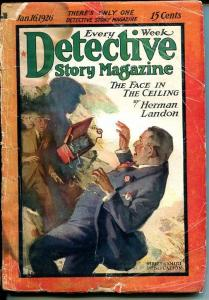 DETECTIVE STORY MAGAZINE-JAN 16 1926-BUCHANAN-LANDON-SMALL-good minus G-