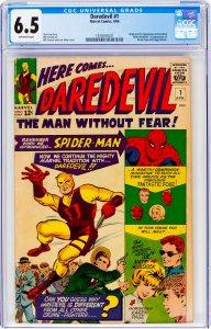 Daredevil #1 CGC Graded 6.5 Origin and 1st appearance of Daredevil (Matt Murd...