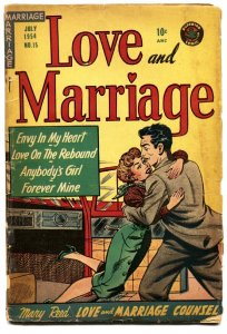 LOVE AND MARRIAGE #15-1954-SUPERIOR-spicy LINGERIE SCENES-headlights
