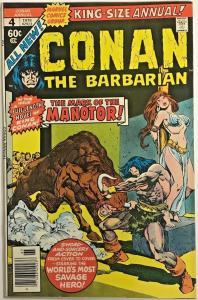CONAN THE BARBARIAN ANNUAL#4 FN/VF 1978 MARVEL BRONZE AGE COMICS