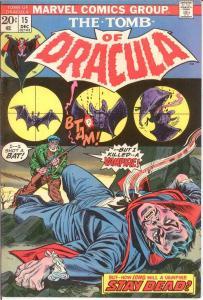 TOMB OF DRACULA 15 VF-NM Dec. 1973 COMICS BOOK