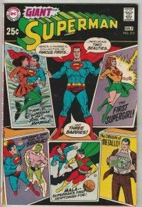 Superman # 217 Strict NM/NM- High-Grade 1st Superman/Braniac battle, Mettalo