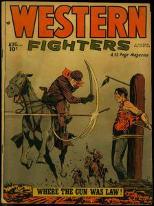WESTERN FIGHTERS V.3 #9 1951 HILLMAN PUBS DENTIST STORY VG
