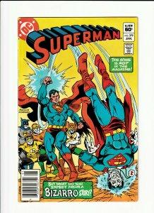Superman #379 DC 1983 NM- 9.2 Ross Andru cover. Bizarro appearance. Newsstand.