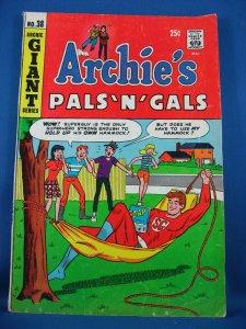 ARCHIE PALS 'N GALS 38 VG Fine  Squarebound Mighty Guy 1966