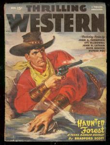 THRILLING WESTERN-MAR 1949-HAUNTED FOREST-WALT SLADE- FN