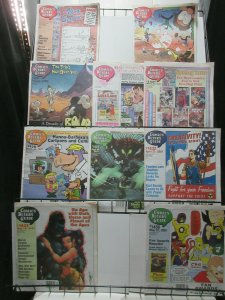 Comics Buyer's Guide Lot of 10Diff from 2000 + 2001 Tabloid Features Interviews