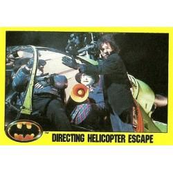 1989 Batman The Movie Series 2 Topps DIRECTING HELICOPTER ESCAPE #240