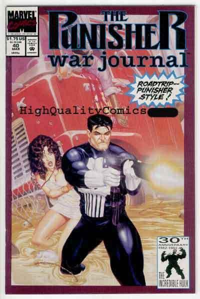 PUNISHER WAR JOURNAL #40, NM+, Joe Jusko, Chuck Dixon, more PWJ in store