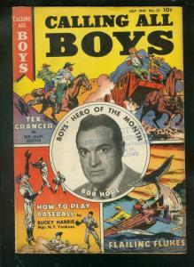 CALLING ALL BOYS #12 1947-BOB HOPE-DOROTHY LAMOUR MOVIE VG