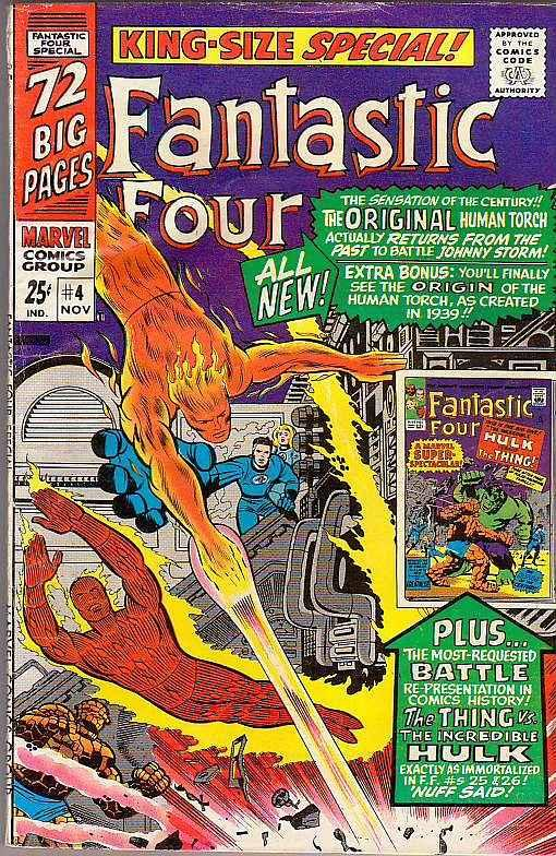 Fantastic Four King-Size Special #4 (Nov-66) VF- High-Grade Fantastic Four, M...