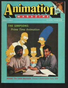 Animation Magazine #10 Fall 1989-Simpsons in Prime Time cover & feature-Matt ...