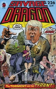Savage Dragon, The #226 VF/NM; Image | donald trump villain cover