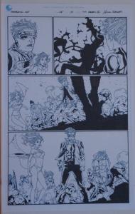 TIM GREEN II / RICK KETCHAM original art, GENERATION HOPE #15 pg 19, 11x17, 2012