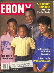 Ebony 8/1987-Sugar Ray Leonard-Racism Resurgence-Vanessa Williams-FN
