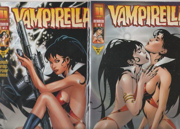Vampirella Monthly Rebirth set #1to3 (Aug-99) NM Super-High-Grade Vampirella