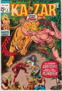 Ka-Zar Featuring Daredevil and the X-Men #2 (Dec-70) VF/NM High-Grade Ka-Zar,...