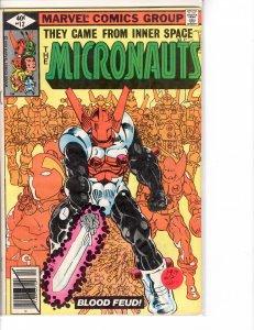Micronauts (1979) 12  Fine- (5.5)