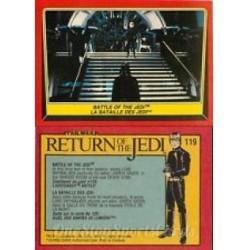 1983 Topps RETURN OF THE JEDI - BATTLE OF THE JEDI #119