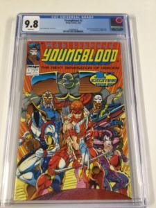 Youngblood 1 Cgc 9.8 White Pages 1st Appearance Of Team