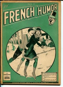 French Humor 3/10/1928-Gernsback-cartoons-gags-comics-pulp format-G
