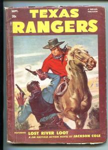 TEXAS RANGERS-09/1951-WESTERN PULP THRILLS-JIM HATFIELD-vg
