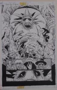 TIMOTHY TRUMAN / SAM GLANZMAN original art, Jonah Hex #4, pg 14,11x17,2/3 Splash