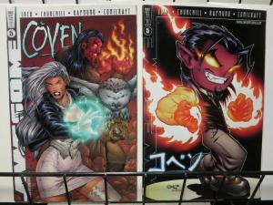 COVEN (1997 AWESOME) 5,5A  set of both variant covers!