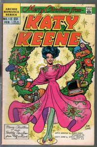 Katy Keene #13 1986-Mery Christmas-spicy poses-GGA-fashions-pin-ups-FN